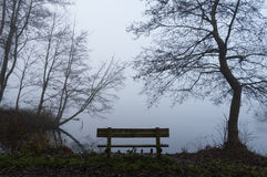 Lonely bench Royalty Free Stock Photo