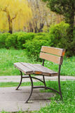 Lonely bench in the park Stock Photography
