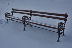 A lonely bench. Winter Royalty Free Stock Images