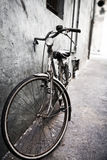 Lonely bicycle Royalty Free Stock Images