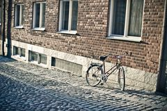 Lonely bicycle Royalty Free Stock Photography