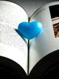 Lonely blue heart Royalty Free Stock Images
