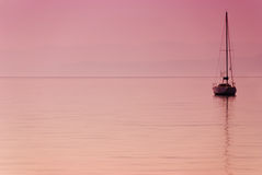 Lonely boat Stock Image