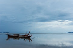 Lonely Boat. On a asia sea Royalty Free Stock Image