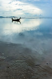 Lonely Boat. On asia sea Royalty Free Stock Photography