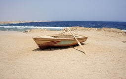 Lonely boat Royalty Free Stock Photography