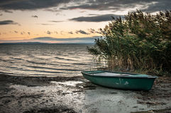 Lonely boat. On the edge Stock Image