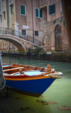 Lonely boat in Grand Canal Stock Photos