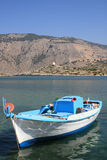 Lonely boat in Greece Royalty Free Stock Image