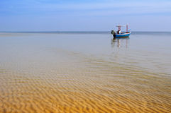Lonely boat in the Hua Hin sea Stock Image