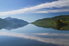 A lonely boat on Loch Lomond Royalty Free Stock Image