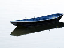 Lonely boat. At Danube port in Drobeta-Turnu Severin, Romania. Drobeta-Turnu Severin is a city in Mehedinți County, Oltenia, Romania, on the left bank of the Royalty Free Stock Photos