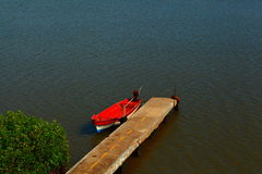 Lonely boat Stock Photography