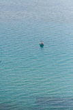 Lonely boat. In the sea Royalty Free Stock Photography