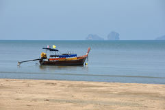Lonely boat. A lonely boat in southern Thailand Royalty Free Stock Photography