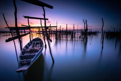 Lonely boat Royalty Free Stock Image
