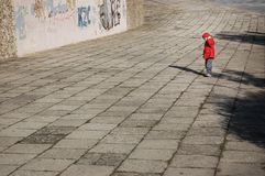 Lonely, Boy, Child, Red Stock Images