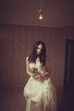 Lonely bride Stock Images