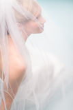 Lonely bride Royalty Free Stock Photo