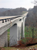 Lonely Bridge in Tennessee Hills Stock Photo