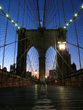 Lonely Brooklyn Bridge Royalty Free Stock Photos