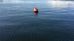 Lonely buoy in the wide sea. stock video footage
