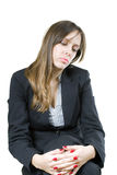 Lonely business girl Royalty Free Stock Image