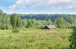 A lonely cabin in the Siberian Outback Royalty Free Stock Image
