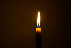 Lonely candle wax stock photo