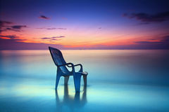 Lonely chair on the beach Royalty Free Stock Photo