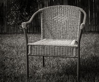 Lonely chair. Empty chair in the yard Royalty Free Stock Image