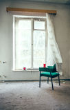 Lonely chair in the room Royalty Free Stock Images