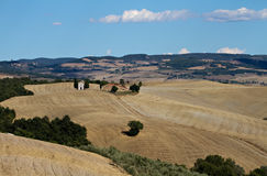 Lonely chapel in Valley Orcia Royalty Free Stock Image