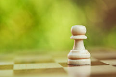 Lonely chess pawn Royalty Free Stock Images