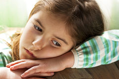 Lonely Child. Children's sad face Royalty Free Stock Photography