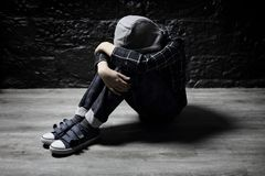 Free Lonely Child With Depression Sitting On Floor Concept For Bullying Stock Photo - 158850110