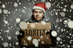 Lonely this Chrismas Stock Photography