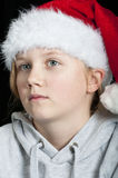 Lonely Christmas child Royalty Free Stock Image
