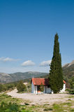 Lonely church. A church lost in hills of Peloponnese Stock Image