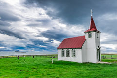 Lonely church on the coast, Iceland Royalty Free Stock Photography