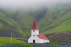 Lonely church in Iceland Royalty Free Stock Photos