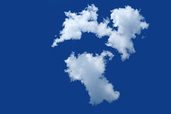 Lonely cloud Royalty Free Stock Images