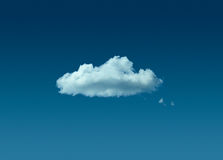 Lonely cloud in blue sky Royalty Free Stock Photos