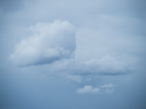 Lonely cloud before a cloudy sky Stock Image