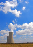 Lonely cooling towers Stock Photo