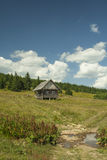 Lonely cottage at Golija mountain Serbia Stock Image