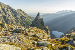 Lonely crag - Monk (Mnich) stock photo