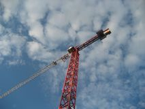 Lonely crane at infinity royalty free stock images