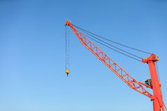 Lonely crane in port. Royalty Free Stock Image