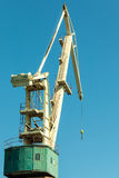 Lonely crane in port. Stock Images